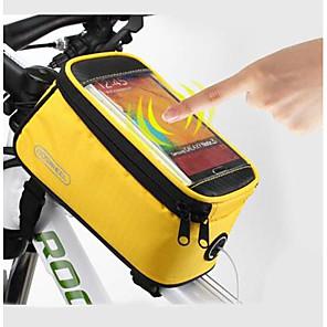 cheap Bike Frame Bags-ROSWHEEL Cell Phone Bag Bike Frame Bag Top Tube 4.8/5.5 inch Touch Screen Waterproof Cycling for Samsung Galaxy S6 LG G3 Samsung Galaxy S4 Blue / Black Yellow Red Cycling / Bike / iPhone X