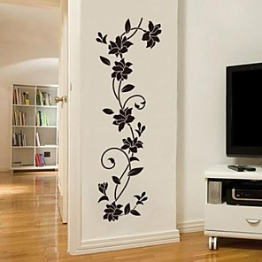 cheap Wall Stickers-Romance / Fashion / Botanical Wall Stickers Plane Wall Stickers Decorative Wall Stickers, Vinyl Home Decoration Wall Decal Wall Decoration 1 / Washable / Removable