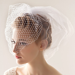 cheap Wedding Veils-Party / Party / Evening Party Accessories Blusher Veils / Accessory / Brooches & Pins Material Classic Theme / Holiday