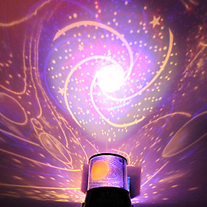 cheap Bags & Cases-DIY Spiral Galaxy Starry Sky Projector Staycation Night Light Romantic Galaxy for Celebrate Party Creative Gift