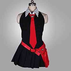 cheap Videogame Costumes-Inspired by Akame Ga Kill! Cosplay Anime Cosplay Costumes Japanese Cosplay Suits Patchwork Sleeveless Dress Gloves Belt For Women's / Tie / Tie