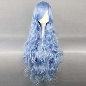 cheap Synthetic Trendy Wigs-Date A Live Yoshino Cosplay Wigs Women's 36 inch Heat Resistant Fiber Anime