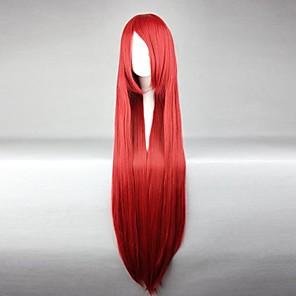 povoljno Anime kostimi-Fairy Tail Elza Scarlet Cosplay Wigs Žene 40 inch Otporna na toplinu vlakna Anime perika