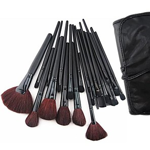 cheap Makeup Brush Sets-24PCS Makeup Brush with Free Leather Pouch - Professional and Perfect Style