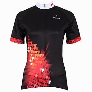 cheap LED Strip Lights-ILPALADINO Women's Short Sleeve Cycling Jersey Black Cartoon Plus Size Bike Jersey Top Mountain Bike MTB Road Bike Cycling Breathable Quick Dry Ultraviolet Resistant Sports Clothing Apparel