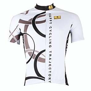 cheap Cycling Jerseys-ILPALADINO Men's Short Sleeve Cycling Jersey Yellow Red Pink Bike Jersey Top Mountain Bike MTB Road Bike Cycling Breathable Quick Dry Ultraviolet Resistant Sports Clothing Apparel / Back Pocket