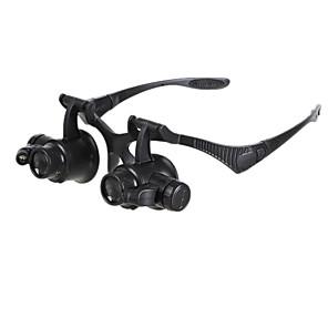 cheap Tool Sets-Magnifier Watch Repair 10X / 15X / 20X / 25X 2 Leds Zw-9892G Black