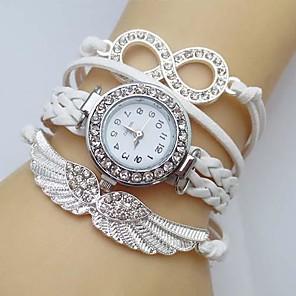 baratos Relógios de Pulseira-Mulheres Bracele Relógio Simulado Diamante Relógio Relógio de diamante Quartzo senhoras imitação de diamante Couro Branco / Azul / Vermelho Analógico - Branco Vermelho Azul Um ano Ciclo de Vida da