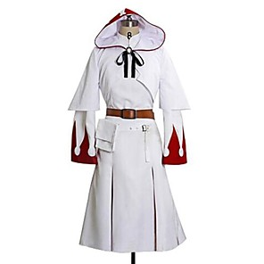 cheap Videogame Costumes-Inspired by Final Fantasy White Mage Video Game Cosplay Costumes Cosplay Suits Print Long Sleeve Dress Shawl Belt Costumes