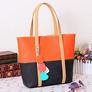 cheap Handbag & Totes-Women's Bags PU Tote for Casual Fuchsia / Blue / Pink