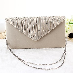 cheap Women's Sandals-Women's Bags Polyester Evening Bag for Party / Event / Party Black / Gold / Silver / Beige / Wedding Bags