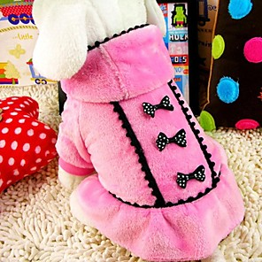 cheap Dog Clothes-Dog Coat Winter Dog Clothes Black Pink Costume Terylene Cotton XS S M L XL