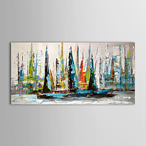 cheap Abstract Paintings-Oil Painting Hand Painted - Landscape Traditional / Modern Canvas