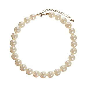 cheap Necklaces-Women's Statement Necklace Pearl Necklace European Pearl Screen Color Necklace Jewelry For