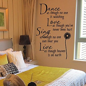 cheap Wall Stickers-Wall Stickers Wall Decals, Sunflower PVC Wall Stickers 1pc