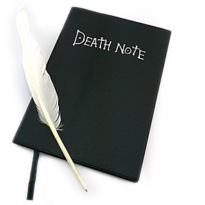 cheap Everyday Cosplay Anime Hoodies & T-Shirts-Cosplay Accessories Inspired by Death Note Cosplay Anime Cosplay Accessories More Accessories PU Leather Paper Men's Women's Hot Halloween Costumes