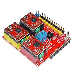 cheap RC Drone Quadcopters & Multi-Rotors-V2 3D Printer Driver Expansion Board for Arduino - Red