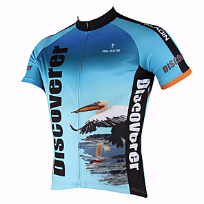 cheap Cycling Jersey & Shorts / Pants Sets-ILPALADINO Men's Short Sleeve Cycling Jersey Polyester Bird Bike Jersey Top Mountain Bike MTB Road Bike Cycling Breathable Quick Dry Ultraviolet Resistant Sports Clothing Apparel