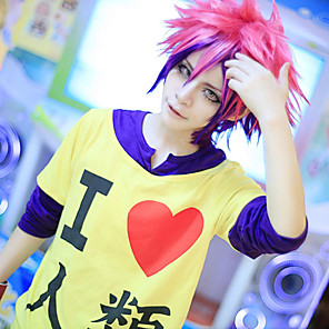 cheap Anime Costumes-Inspired by No Game No Life Cosplay Anime Cosplay Costumes Japanese Cosplay Hoodies Print Long Sleeve T-shirt For Men's