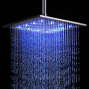 cheap Rain Shower-Contemporary Rain Shower Brushed Feature-Rainfall LED , Shower Head