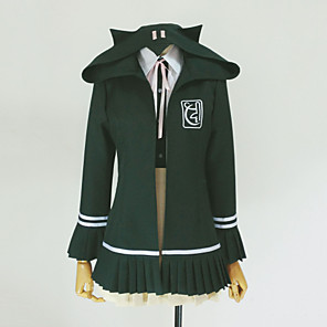 cheap Anime Costumes-Inspired by Dangan Ronpa Chiaki Nanami Video Game Cosplay Costumes Cosplay Hoodies Solid Colored Long Sleeve Cravat Coat Shirt Costumes