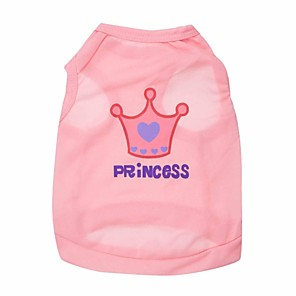 cheap Dog Clothes-Cat Dog Shirt / T-Shirt Dog Clothes Pink Rose Costume Terylene Tiaras & Crowns XS S M L