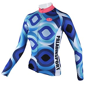 cheap LED Flood Lights-ILPALADINO Women's Long Sleeve Cycling Jersey Winter Polyester Stripes Plus Size Bike Jersey Top Mountain Bike MTB Road Bike Cycling Breathable Quick Dry Sports Clothing Apparel