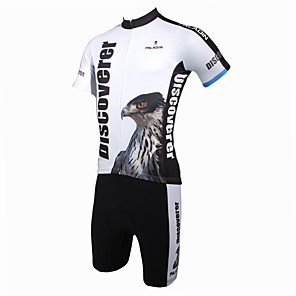 cheap Cycling Jersey & Shorts / Pants Sets-ILPALADINO Men's Short Sleeve Cycling Jersey with Shorts Eagle Bike Clothing Suit Breathable Quick Dry Ultraviolet Resistant Sports Polyester Eagle Mountain Bike MTB Road Bike Cycling Clothing Apparel