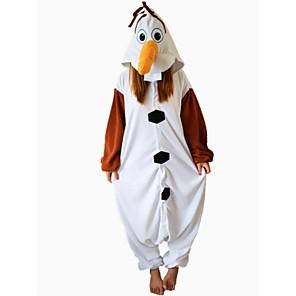 cheap Kigurumi Pajamas-Adults' Kigurumi Pajamas Snowman Animal Onesie Pajamas Polar Fleece Brown Cosplay For Men and Women Animal Sleepwear Cartoon Festival / Holiday Costumes / Leotard / Onesie / Leotard / Onesie