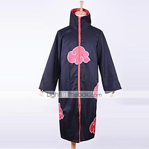 povoljno Anime kostimi-Inspirirana Naruto Akatsuki Anime Cosplay nošnje Japanski Cosplay Suits Print Dugih rukava Plašt Za Muškarci