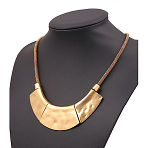 cheap Necklaces-Women's Statement Necklace Ladies European Rose Gold Black Gold Silver Necklace Jewelry For Party
