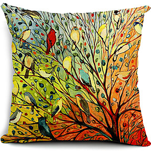 cheap Pillow Covers-1 pcs Cotton / Linen Pillow Cover, Nature Modern Contemporary