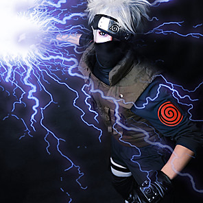 cheap Anime Costumes-Naruto Hatake Kakashi Cosplay Wigs Men's 14 inch Heat Resistant Fiber Anime Wig