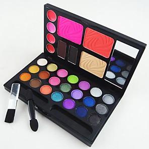 cheap Blush-4in1-makeup-cosmetic-palette-with-mirror-applicator-brush-set-b-3-blusher-2-eyebrow-powder-4-lip-gloss-21-eyeshadow