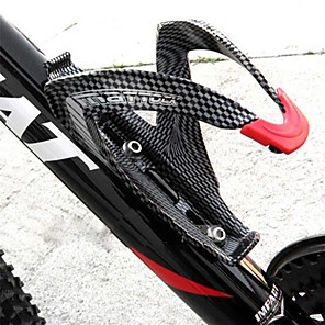 cheap Bikes-Bike Water Bottle Cage Carbon Fiber Lightweight For Cycling Bicycle Road Bike Mountain Bike MTB Carbon Fiber Full Carbon Black