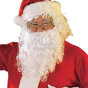 economico Costumi da Babbo Natale & Costumi di Natale-Costumi da Babbo Natale Articoli per il tuo Natale Adulto Per uomo Halloween Feste / vacanze Bianco + rosso Per uomo Per donna Costumi carnevale Tinta unita / Asciugamano per capelli / Cappelli