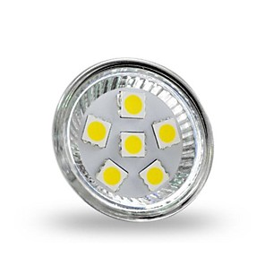 cheap Pathway Lights-1 W LED Spotlight 350 lm GU4 MR11 6 LED Beads SMD 5050 Decorative Cold White 12 V / RoHS