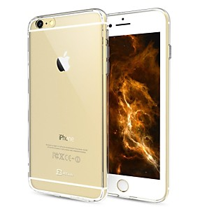 cheap iPhone Cases-Case For Apple iPhone 6s Plus / iPhone 6s / iPhone 6 Plus Transparent Back Cover Solid Colored Hard PC