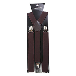 cheap Men's Accessories-Suspender Solid Classic Brooch Jewelry Brown For Party Business / Ceremony / Wedding
