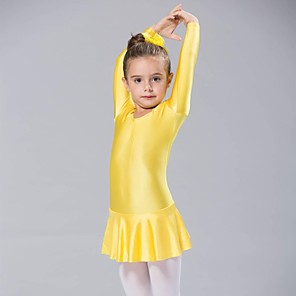cheap Kids' Dancewear-Ballet Dress Women's Long Sleeve Spandex