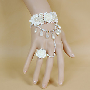cheap Wedding Slips-Wedding Flowers Bouquets / Wrist Corsages / Others Wedding / Party / Evening Material / Bead / Lace 0-20cm