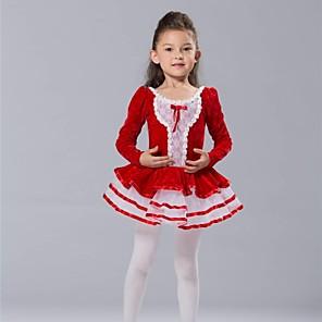 povoljno Dječja plesna oprema-Dječja plesna odjeća / Balet Haljine i suknje / Tutus / Majice Spandex / Šifon / Til Dugih rukava / Seksi blagdanski kostimi