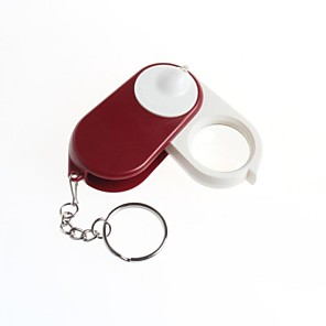 cheap Microscopes & Endoscopes-Keychain Folding Magnifier 10x Magnifier With Light