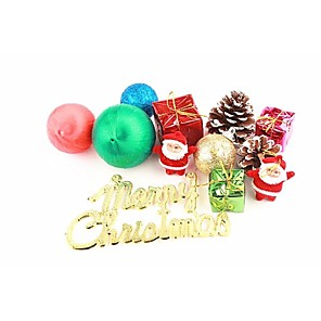 cheap Christmas Toys-Christmas Decorations Christmas Tree Ornaments Cute Plastic Boys' Girls' Toy Gift 12 pcs