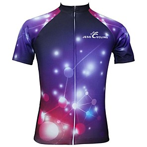 cheap Cycling Jerseys-JESOCYCLING Women's Short Sleeve Cycling Jersey Polyester Bike Jersey Top Breathable Quick Dry Sports Clothing Apparel / Stretchy