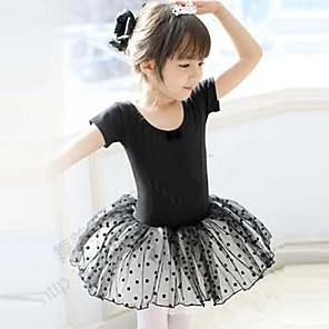 cheap Kids' Dancewear-Ballet Training Short Sleeves Natural Cotton / Princess