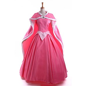 cheap Movie & TV Theme Costumes-Princess Fairytale Cosplay Costume Women's Movie Cosplay Dress Cloak Christmas Halloween New Year Satin