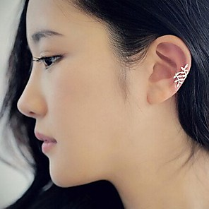 cheap Party Sashes-Women's Clip on Earring Earrings Jewelry Silver / Golden For Party Daily Casual