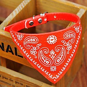 cheap Dog Clothes-Dog Collar Collar Bandana Adjustable / Retractable Bandanas PU Leather Red Pink