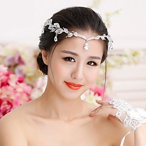 cheap Wedding Shoes-Rhinestone / Alloy Tiaras / Hats / Head Chain with 1 Wedding Headpiece